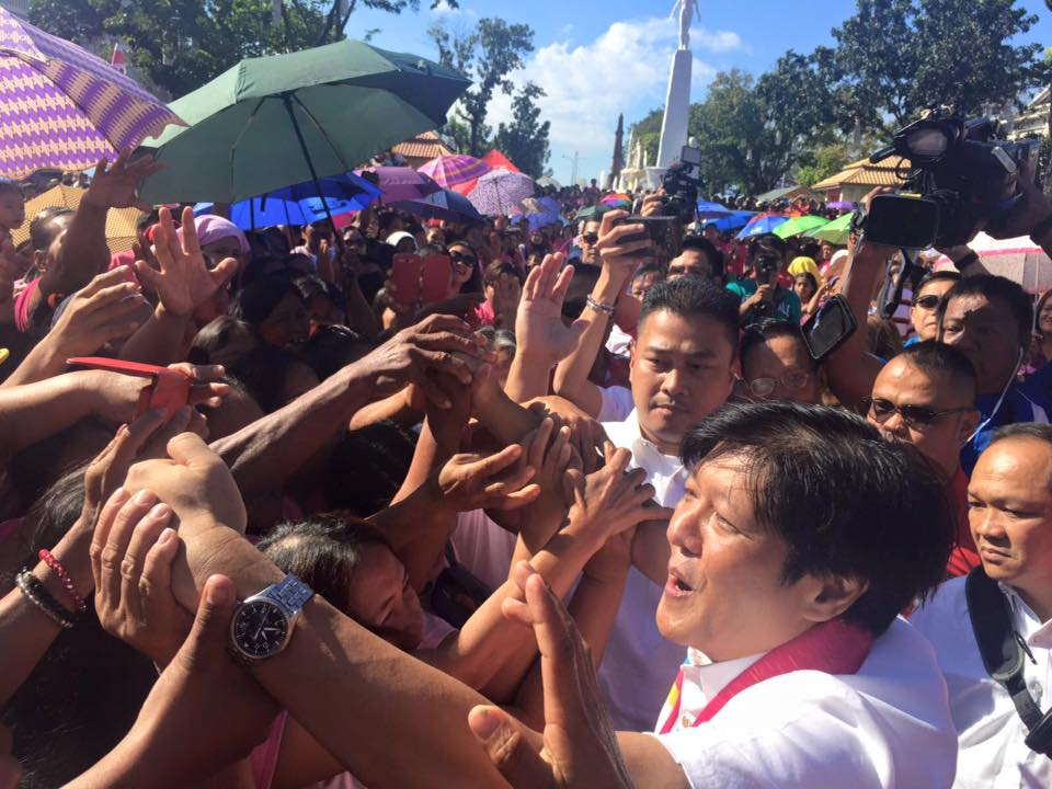 ILOCOS VOTE. Ferdinand u0022Bongbongu0022 Marcos Jr in his bailiwick, Ilocos Norte. File photo by Rappler