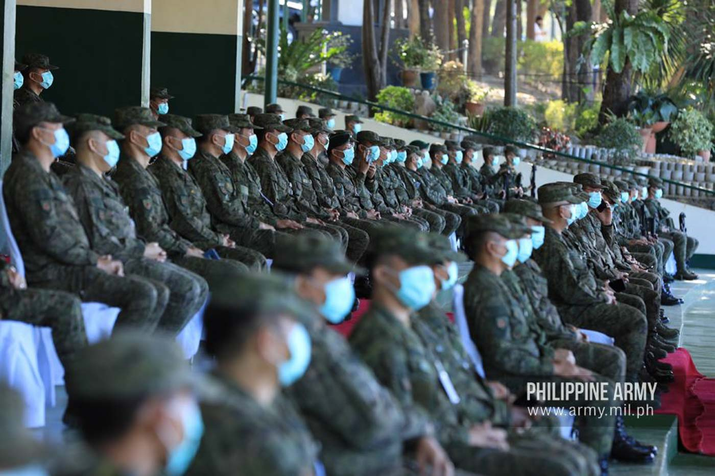 ARMY TROOPS. The Philippine Army marks its 123rd anniversary on March 23, 2020, amid an outbreak of the novel coronavirus. Photo from the Philippine Army