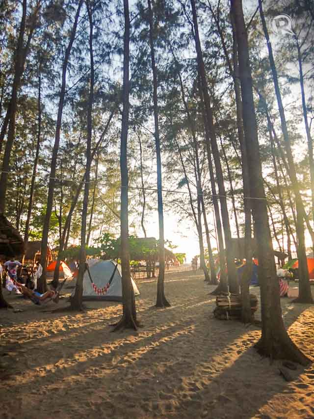 BEACH CAMPING. Camping is the way to stay in Nagsasa