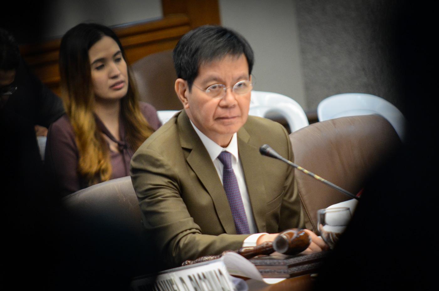 TRAUMATIZED. Senator Panfilo Lacson at the Lascau00f1as hearing on March 6, 2017.