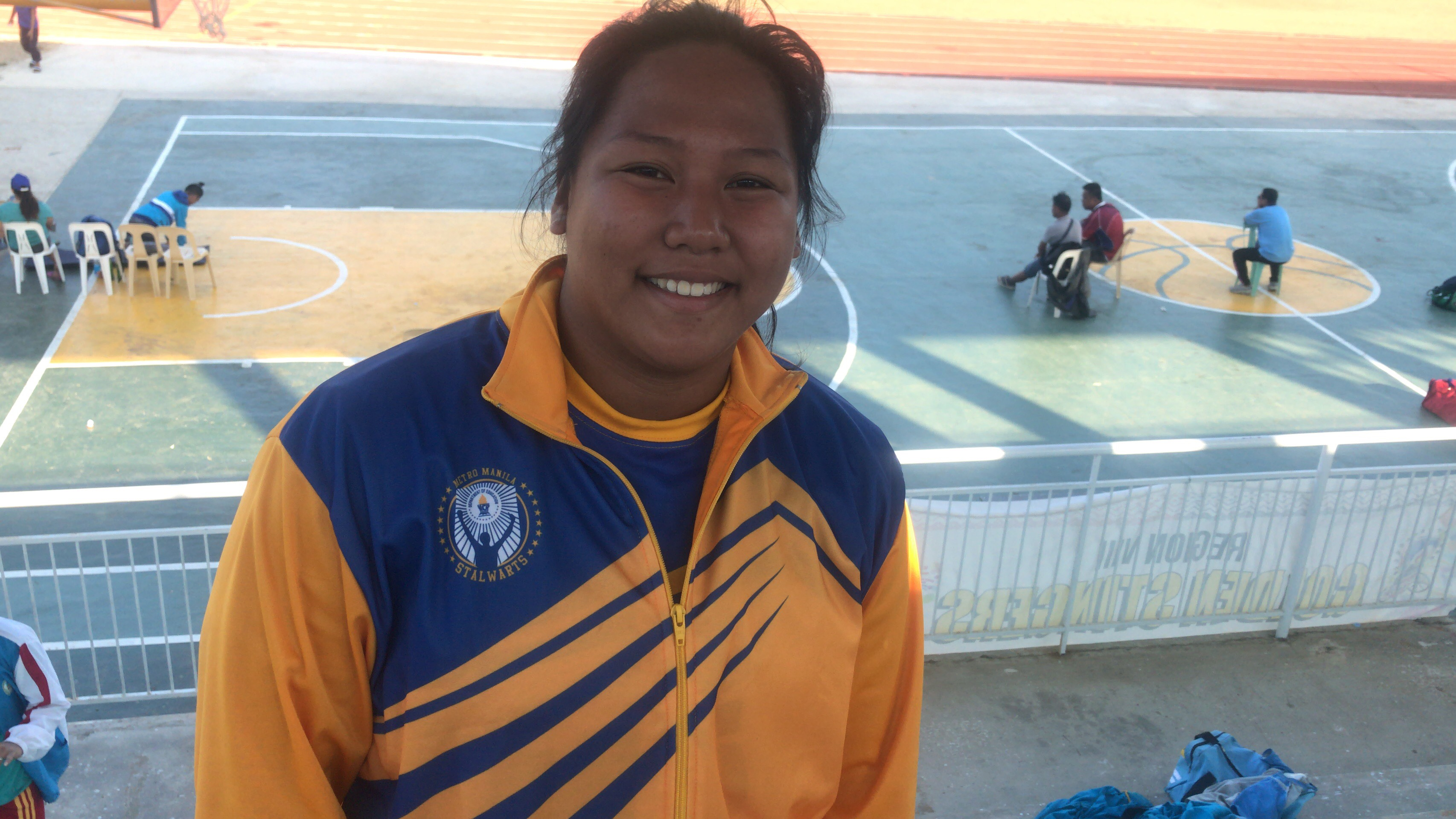 RECORD RETURN. Kasandra Alcantara sets a new shot put record in her Palaro comeback. Photo by Raymon Dullana/Rappler