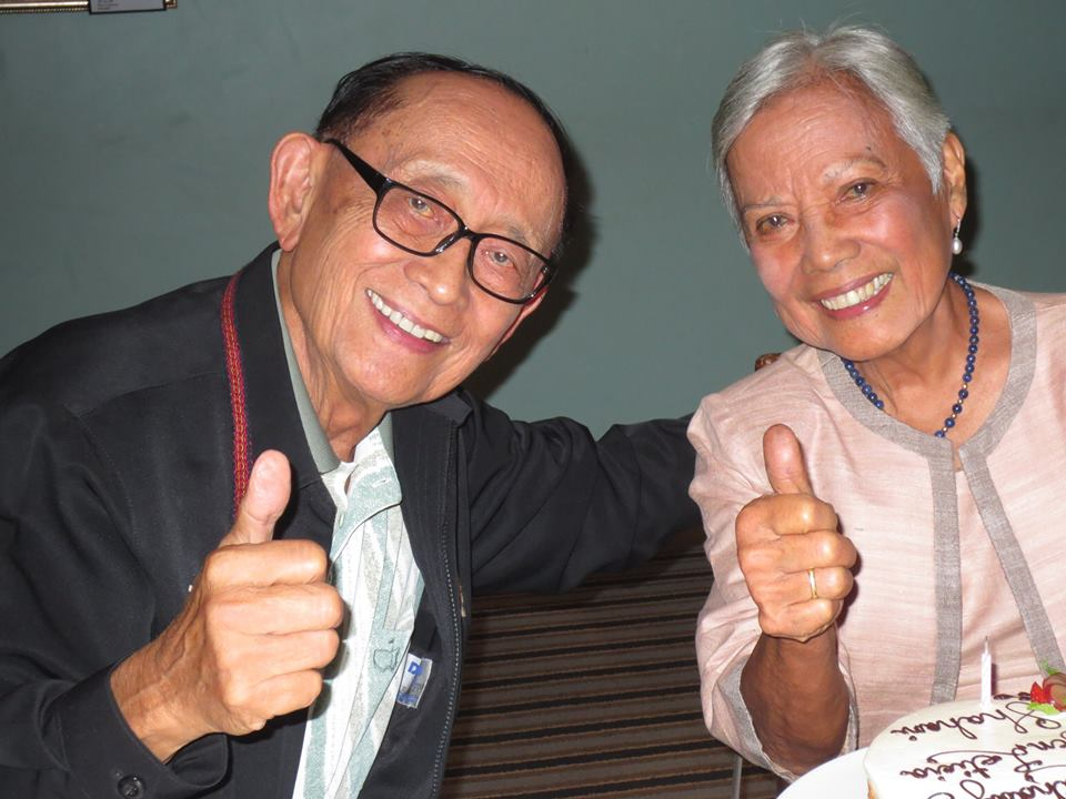 SIBLINGS. Former president Fidel Ramos with his sister Letty Ramos-Shahani. Photo from Lila Shahani's Facebook account