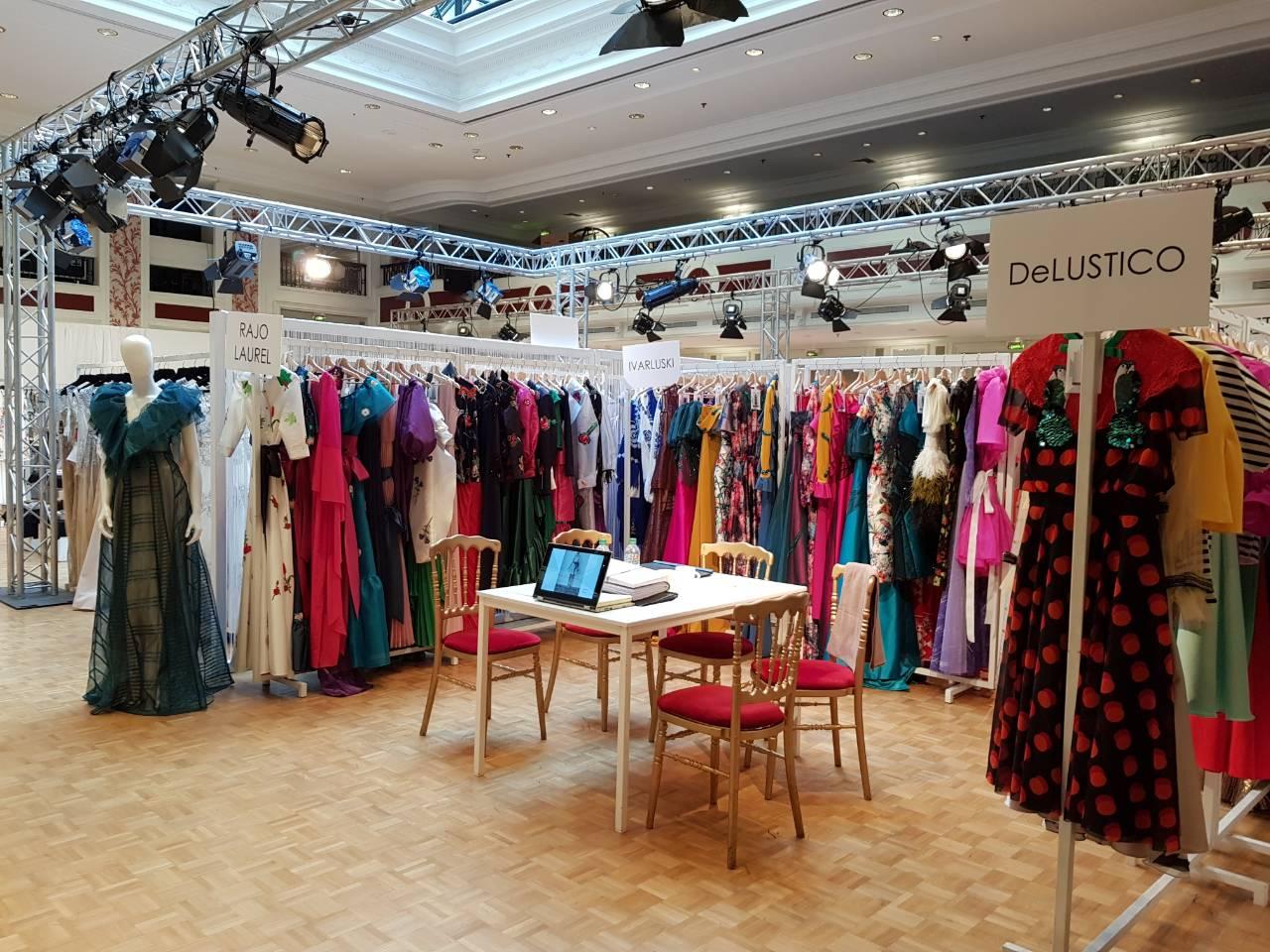 Dennis Lustico's DeLUSTICO collection at the Fashion Design Trade and Exhibit S/S 2018
