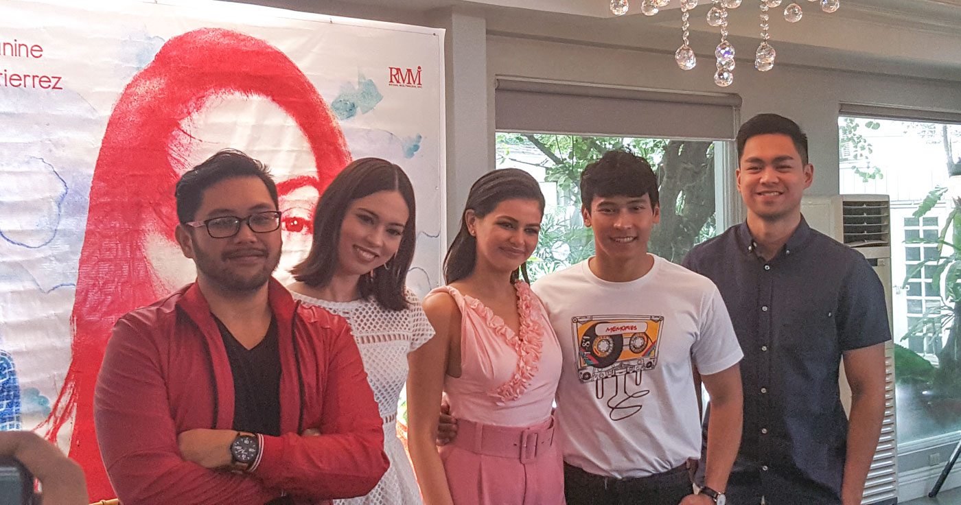 ELISE. Laura with director Joel Ferrer, Janine Gutierrez, Enchong Dee, and Miko Raval during the press conference of the movie 'Elise.'