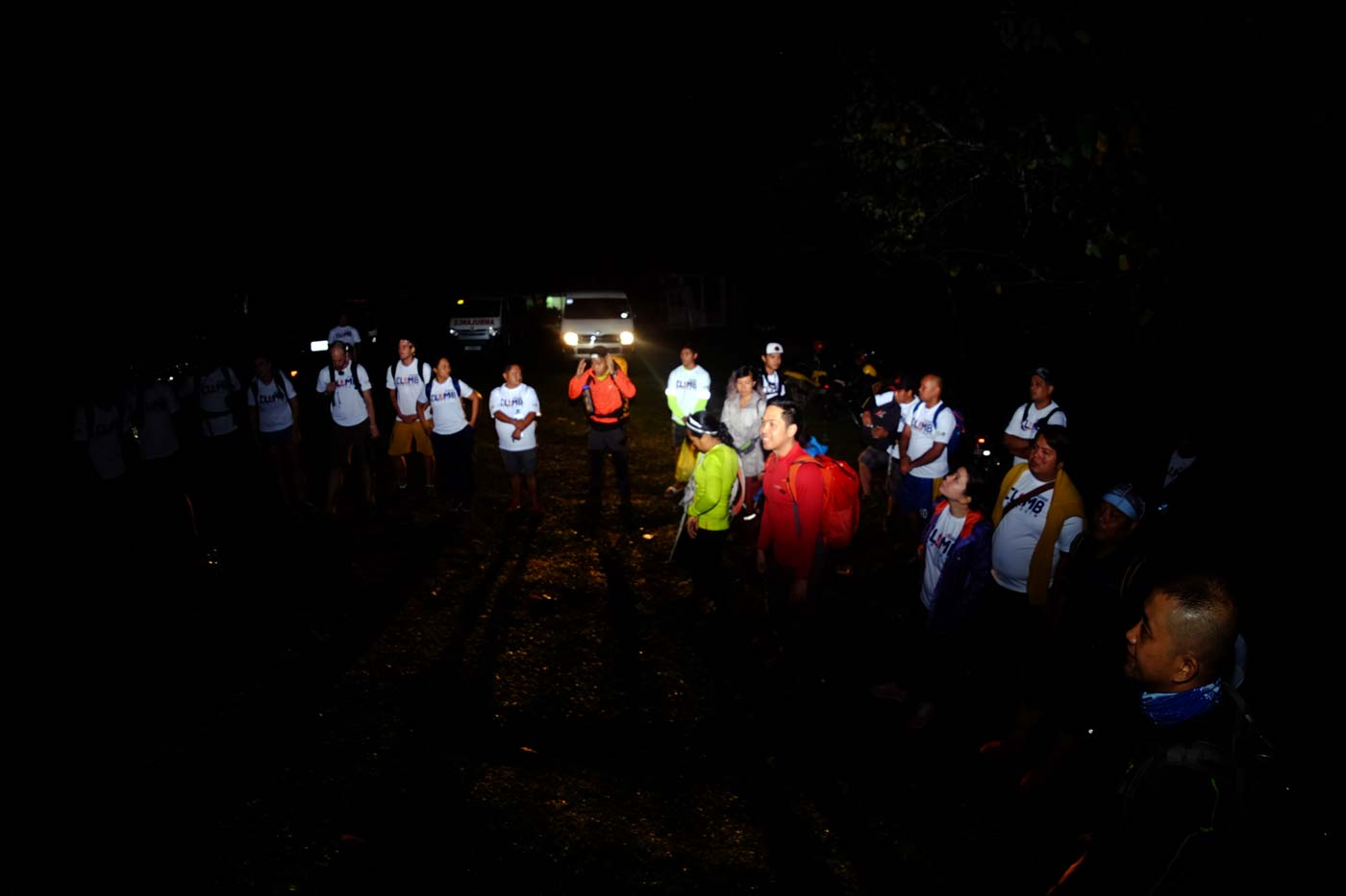BASE CAMP. Members of the group gather at the base camp in Barangay Itum, Mambajao on March 23,2019. Photo by Bobby Lagsa/Rappler