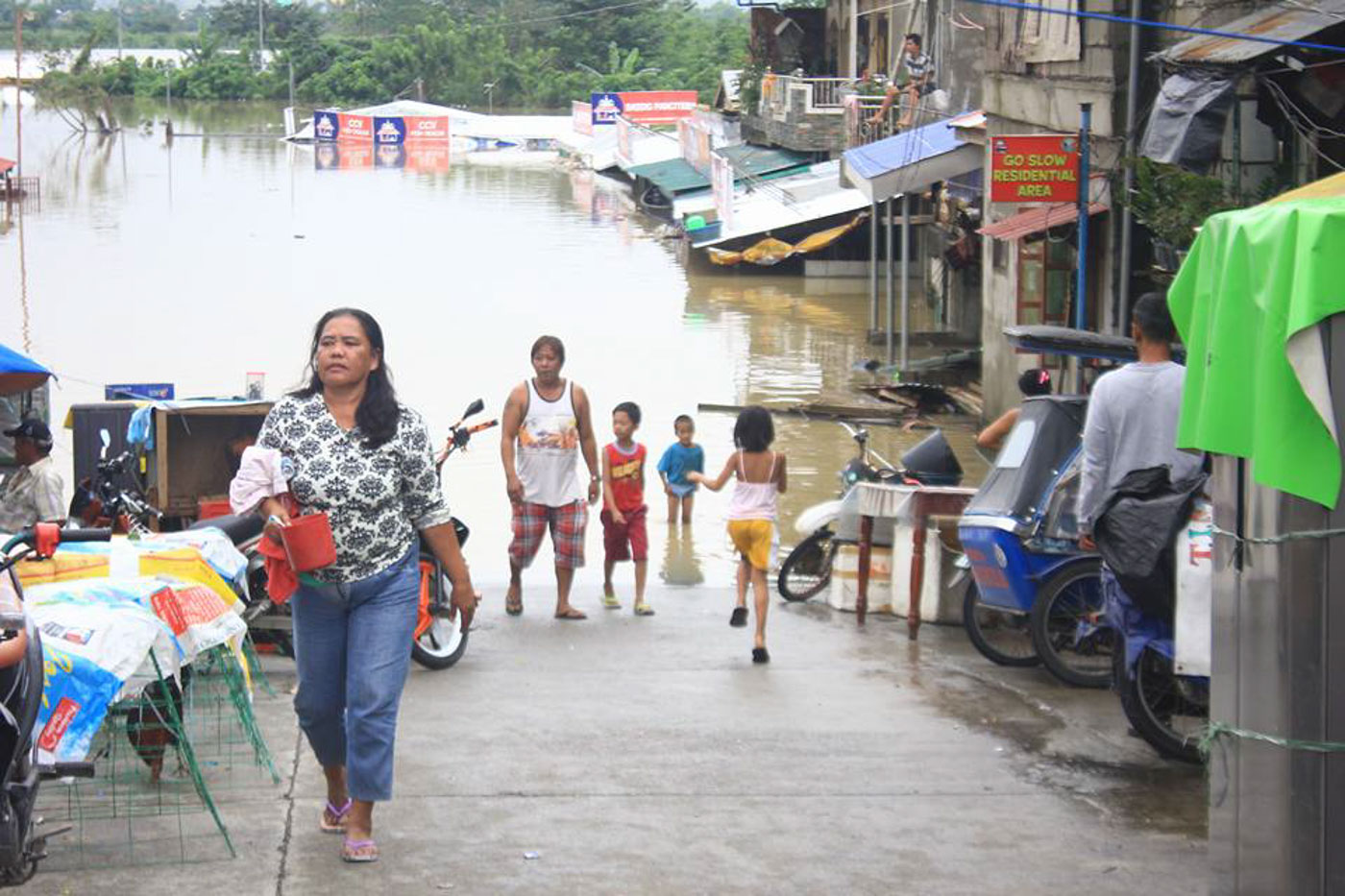 SUBMERGED. Houses in low-lying areas in Tuguegarao is flooded due to the swollen Pinacanauan River. Photo courtesy of Cagayan PIO