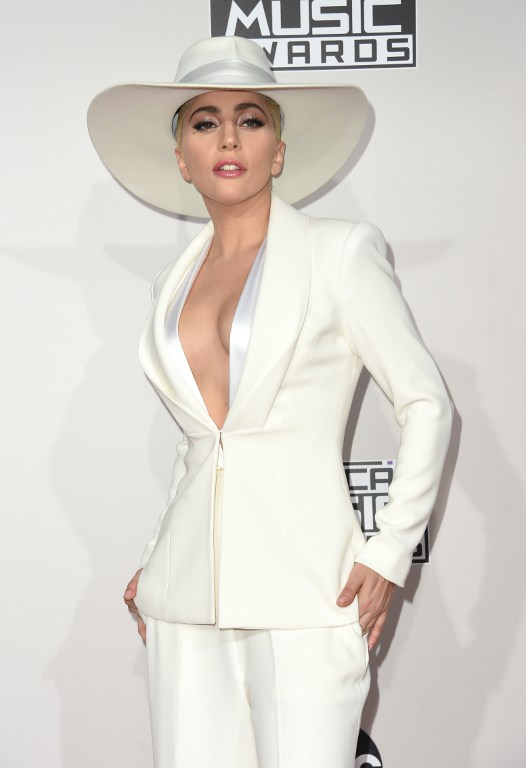 Lady Gaga arrives for the 2016 American Music Awards, November 20 at the Microsoft Theater in Los Angeles, California. Photo by Valerie Macon/ AFP