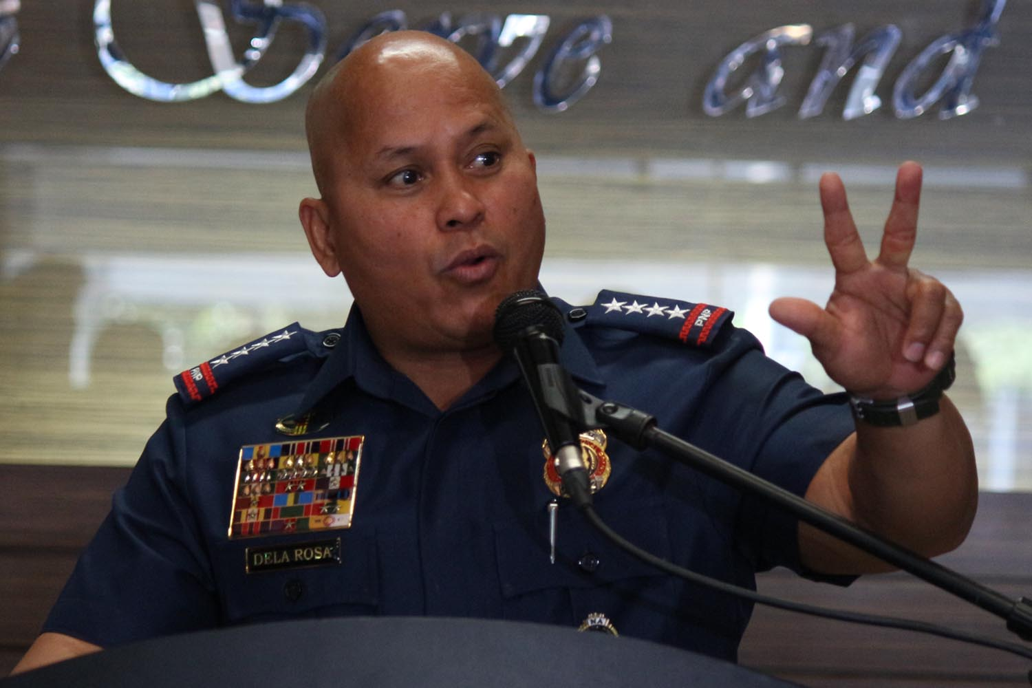 PROTECTING THE POLICE. File photo of PNP chief Ronald dela Rosa File photo by Joel Liporada/Rappler
