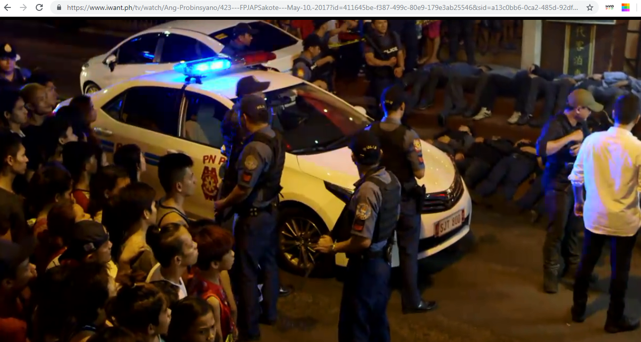SCENE FROM ANG PROBINSYANO. Bicol Republic's photos are taken during the shooting for the TV show's episode entitled 'Sakote.' Screenshot from IwantPH