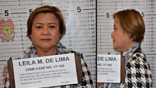 ARRESTED. Senator Leila de Lima is arrested on February 24, 2017. Photo sourced by Rappler