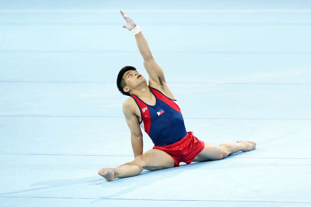 GOLD. Carlos Yulo bag a historic first for the Philippines. File photo from Jat Tenorio/Red Ox Media Events