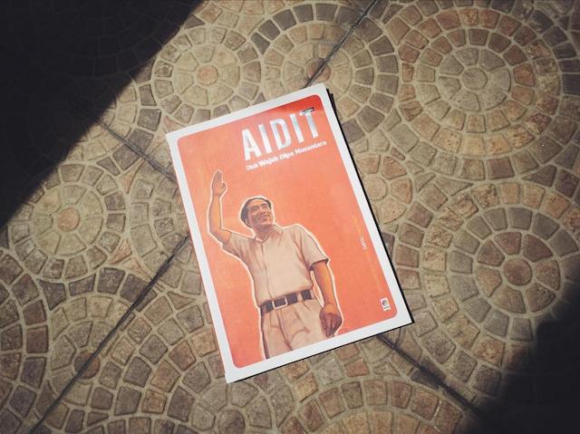 Buku seri Tempo 'Orang Kiri' bertemakan tokoh PKI, DN Aidit. Foto oleh Abdul Qowi Bastian/Rappler