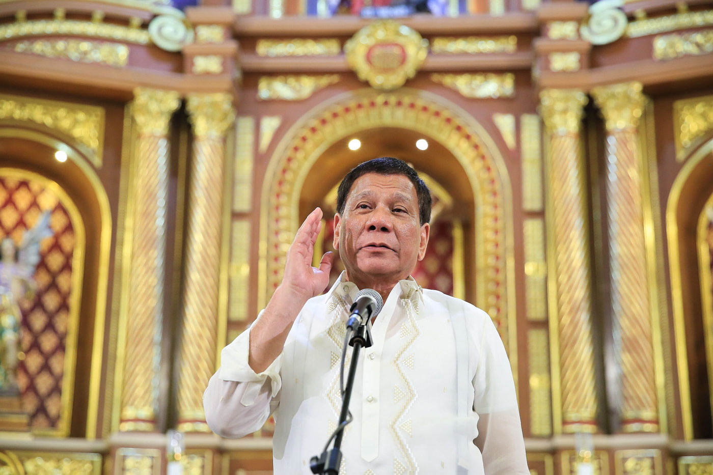 'IMPONDERABLES OF LIFE.' President Duterte muses about his own mortality and the possibility of resigning during recent public speeches. Malacau00f1ang file photo