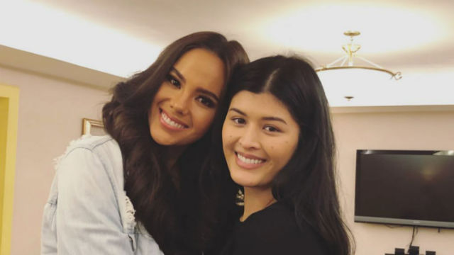 NO ISSUE. Mariel de Leon meets up with Catriona Gray before pageant night. Screenshot from Instagram/@mariaangelicadl