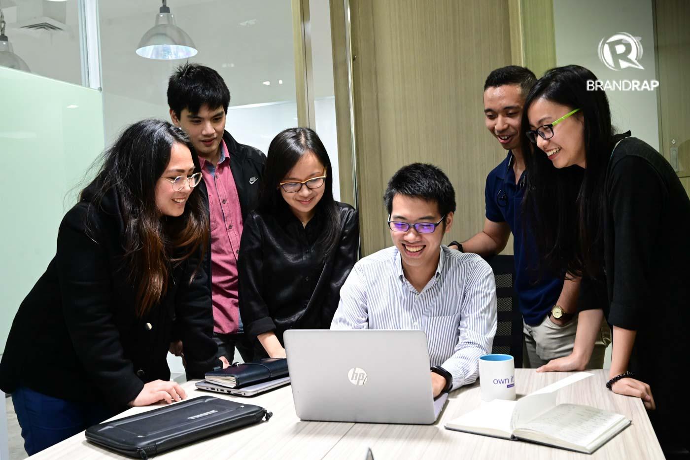 THE COBENA TEAM. (L-R) Senior Digital and Research Executive Mari Arambulo, Anton Yamzon, Leean Tria, Bryan Tiu, Senior Data Analyst Ben Harder, and Product Manager for Gateway Leona Lao