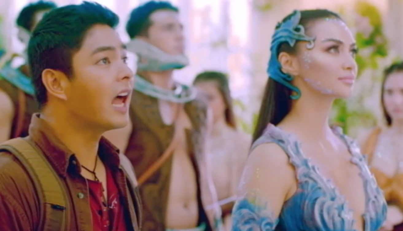 Coco with Kylie Verzosa as a fairy in 'Ang Panday.' Screengrab from YouTube/ABS-CBN Star Cinema