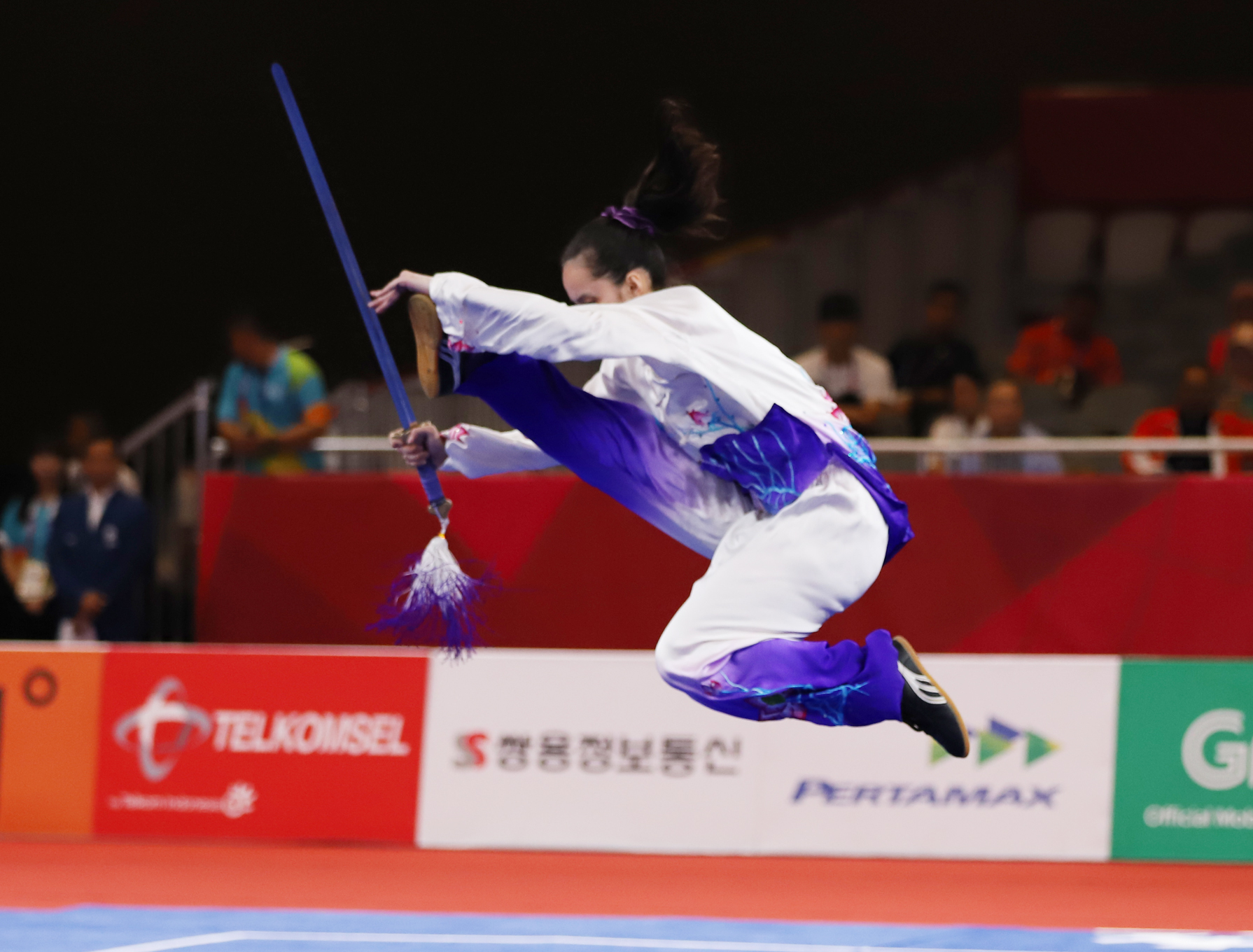 HIGH PERFORMANCE. Agatha Wong delivers a performance worthy of an Asian Games bronze. Photo from Asian Games media pool