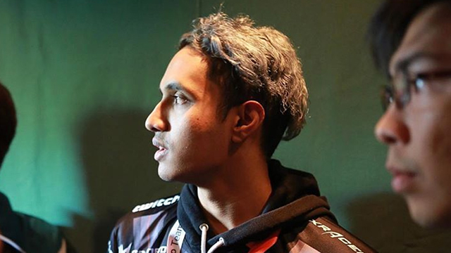 OUT. TNC captain, Canadian Theeban Siva, looks on after their elimination from The International 7. Photo from Dota2ti/Instagram