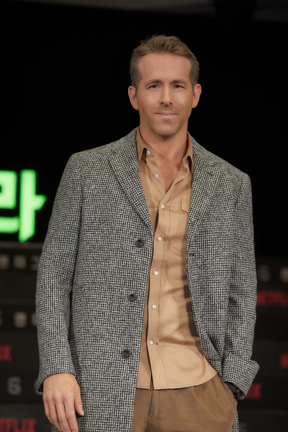 Leader of the band: Ryan Reynolds attends the press conference for the world premiere of Netflix's '6 Underground' at Four Seasons Hotel on December 02, 2019 in Seoul, South Korea. Photo courtesy of Netflix