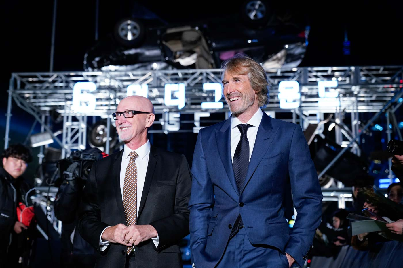 A-Team: Producer Ian Bryce and director Michael Bay attend the world premiere of Netflix's '6 Underground' at Dongdaemun Design Plaza on December 02, 2019 in Seoul, South Korea. Photo courtesy of Netflix