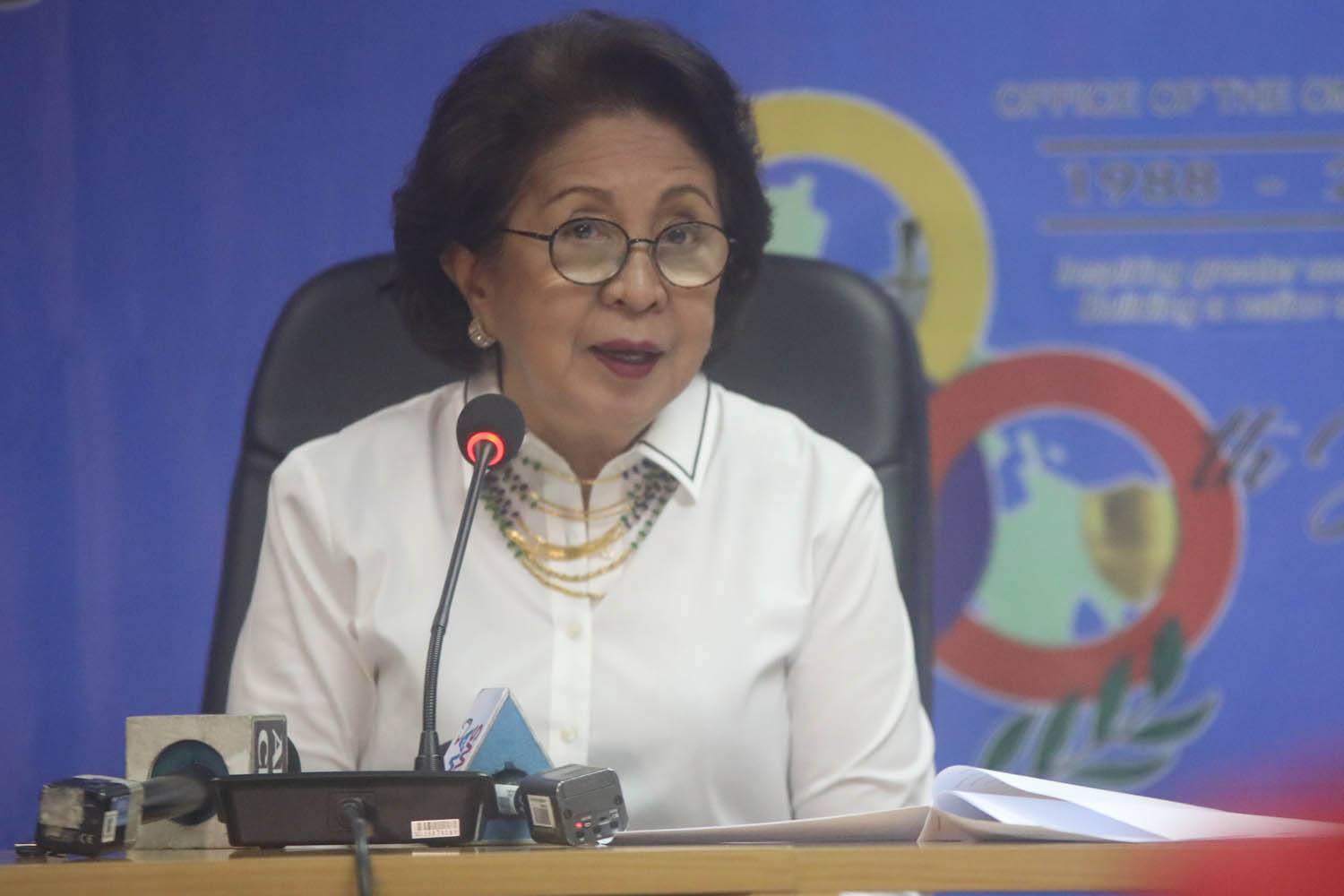 ARROYO CASE. Ombudsman Conchita Carpio Morales on Tuesday, July 24, 2018, says she feels nothing over the rise to House Speakership of Gloria Macapagal-Arroyo, whom she charged and jailed of plunder in 2012. Photo by Darren Langit