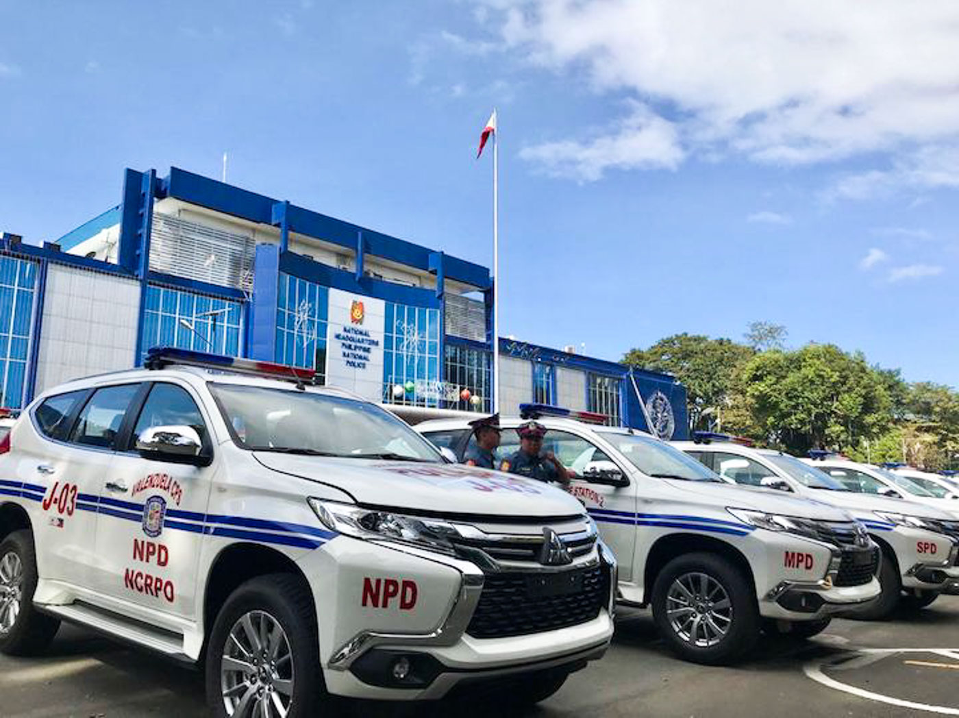 'GOLDEN AGE'. The Japanese government donates 100 patrol vehicles to the Philippine National Police. All photos by Rambo Talabong/Rappler