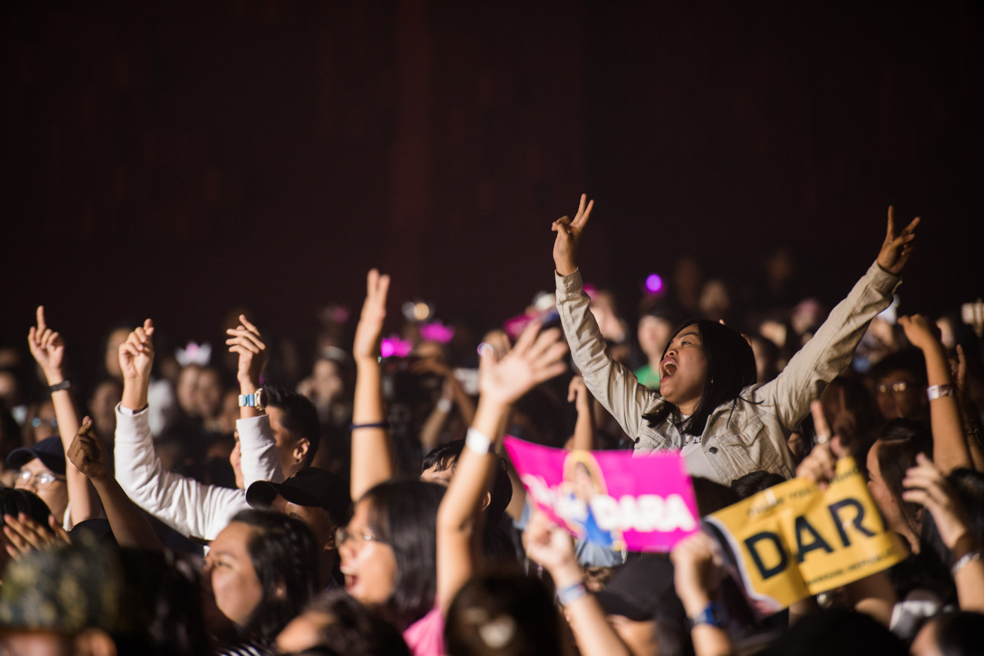 LOYAL. The crowd goes wild for Sandara Park.