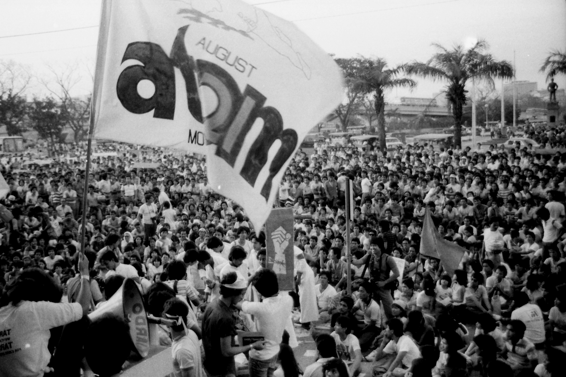 ATOM. In January 1984, the August Twenty-One Movement mobilized thousands of Aquino supporters to intensify the campaign to oust Marcos. All photos by Romeo Mariano
