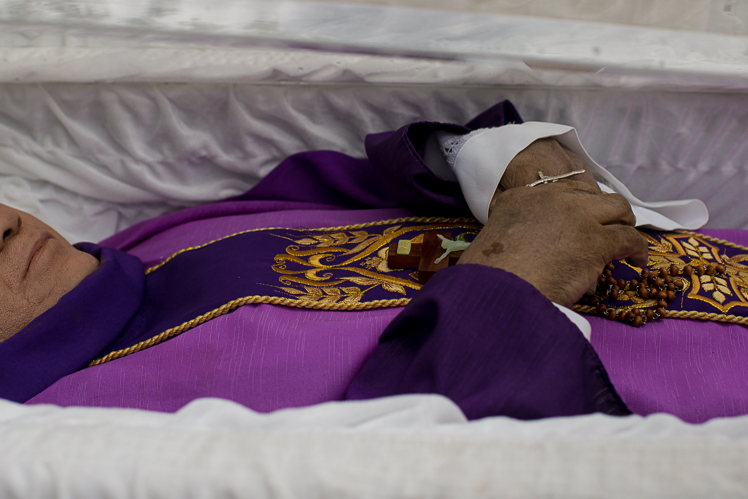 'HERO, MARTYR'. Catholic priest Marcelitio 'Tito' Paez was gunned down by unknown men on December 4, 2017, after facilitating the release of a political prisoner in Cabanatuan City, Nueva Ecija. Photo by Eloisa Lopez