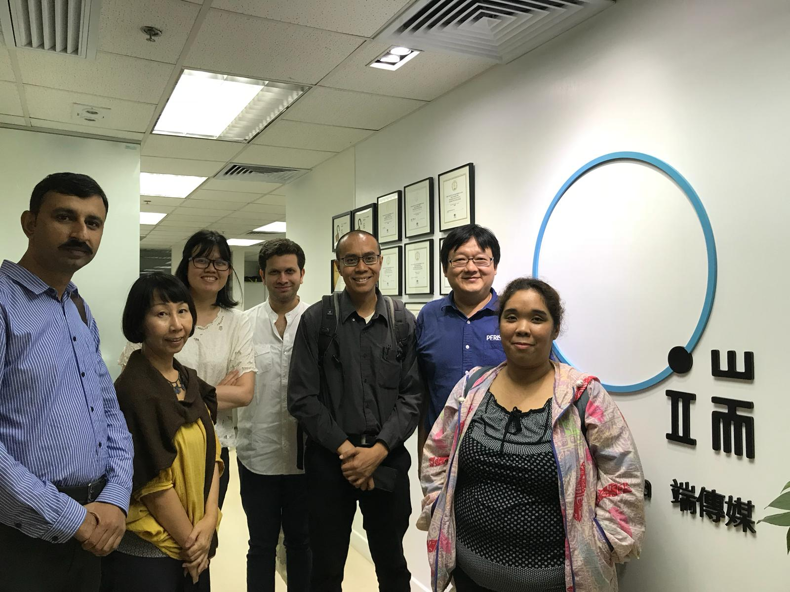 MEDIA VISIT. The author and the journalists during a visit to Initium media