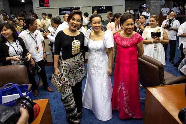 Senators Loren Legarda, Grace Poe and Cynthia Villar. Photo by Mark Cristino/Rappler