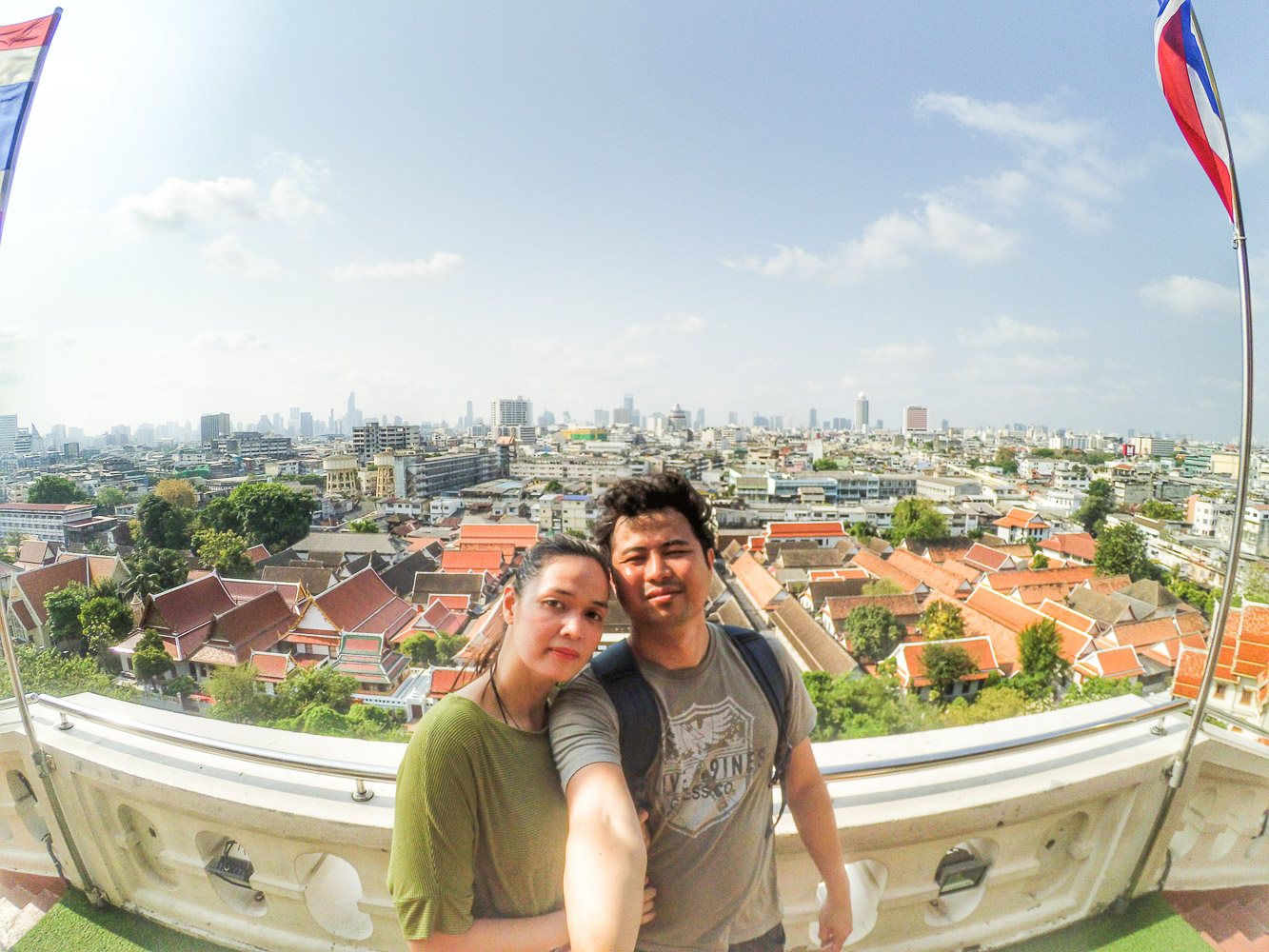 Great view of Bangkok at the top and free Wi-Fi, too!