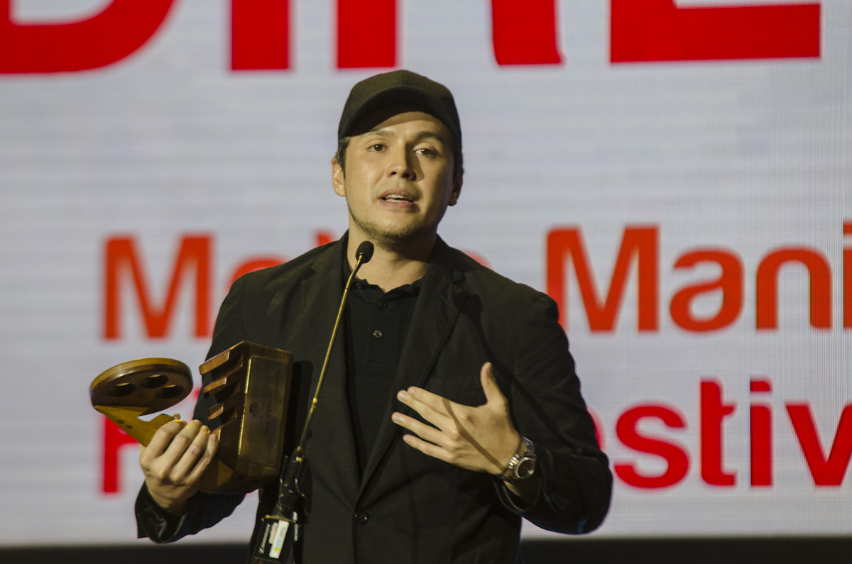BEST DIRECTOR. Paul Soriano scores his first best Director Award in the MMFF for 'Siargao.'