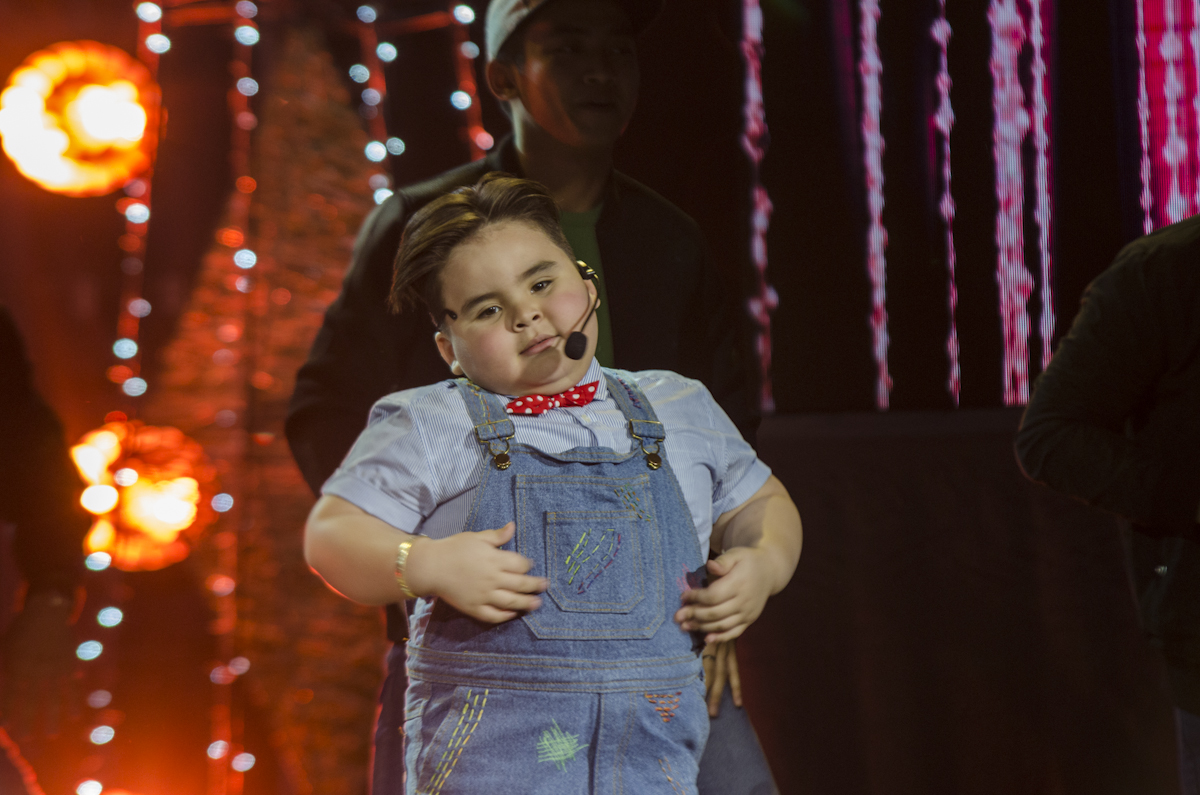 CUTE MOMENT. Baby Baste does a dance number on stage. He also won the Best Child performer
