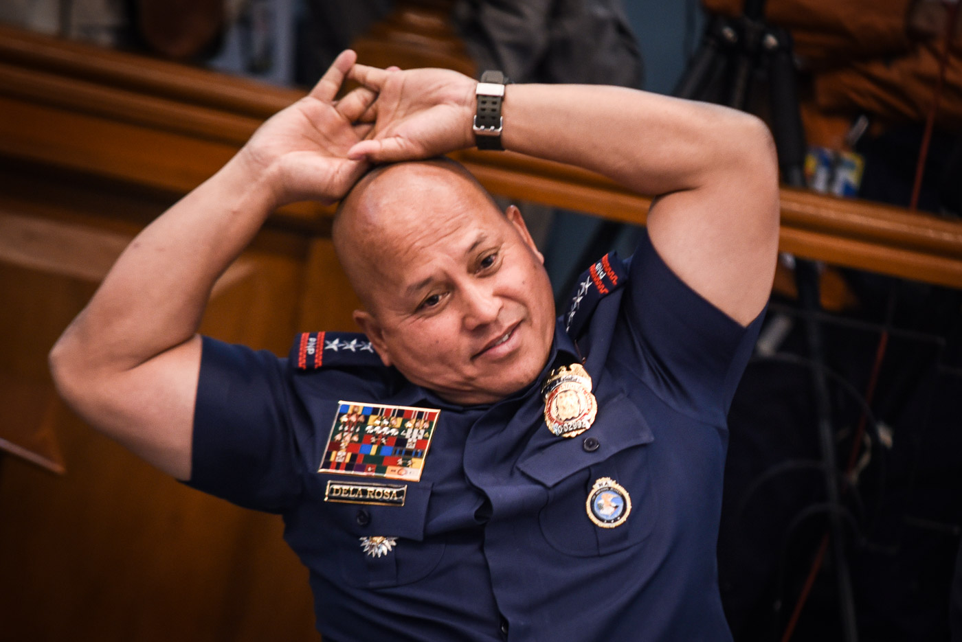 TAGAYTAY TRIP. PNP chief Ronald dela Rosa says he will treat SAF troops himself if President Rodrigo Duterte will not. File photo by LeAnne Jazul/Rappler