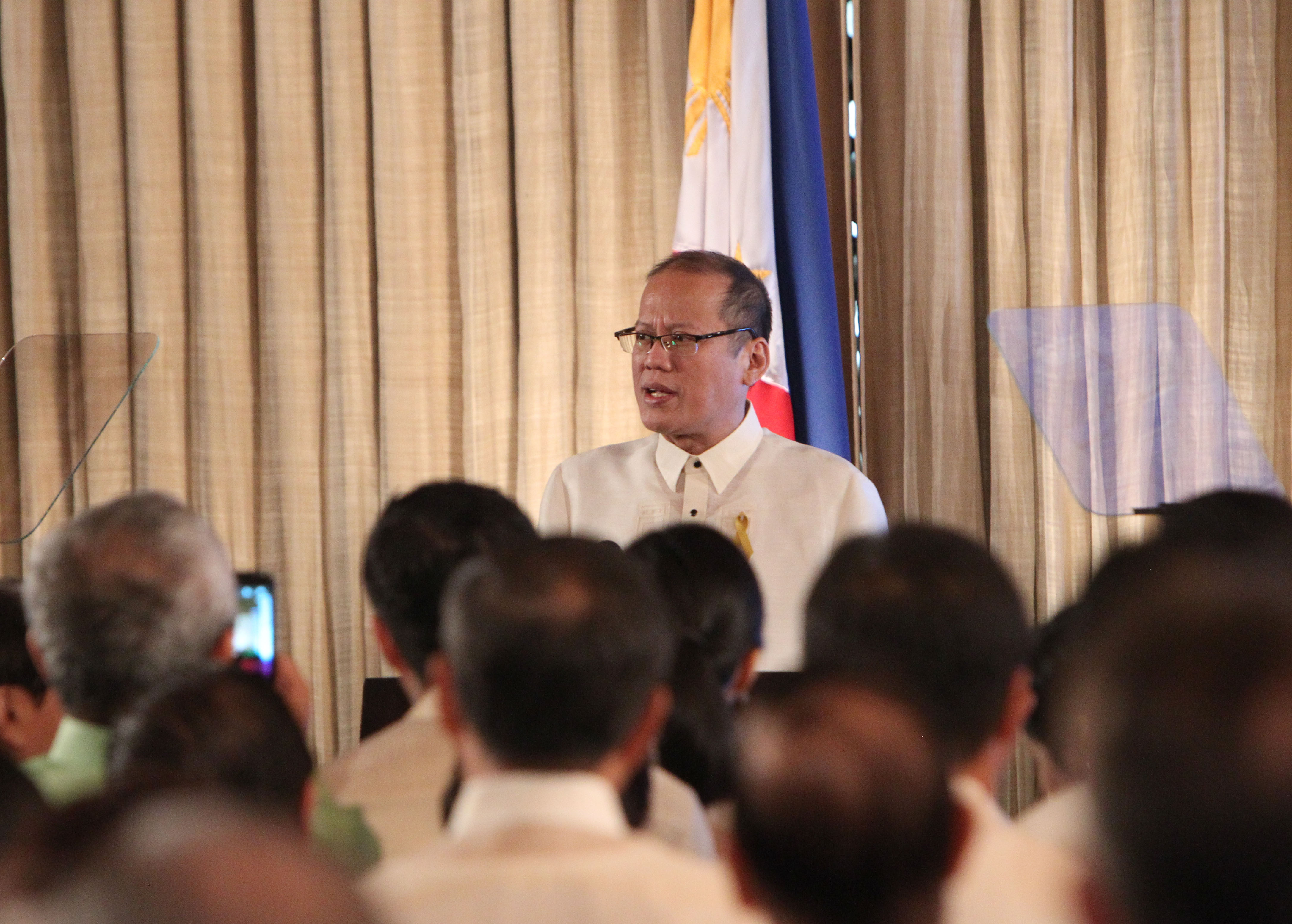 INDICTED. Former president Benigno Aquino III faces graft and usurpation of authorities charges for his role in the botched Mamasapano operations. File photo by Lauro Montellano Jr./ Malacanang Photo Bureau
