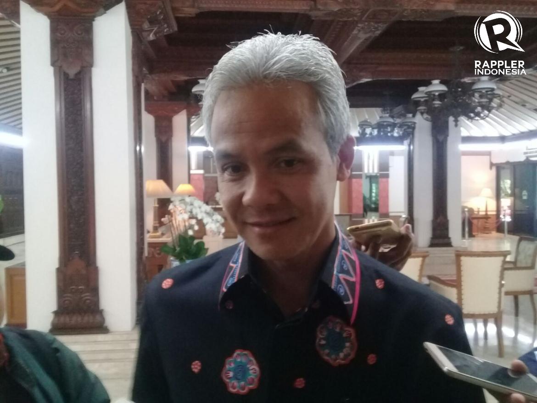 CAGUB JATENG. Gubernur incumbent Jawa Tengah, Ganjar Pranowo mengatakan partainya, PDIP akan mengumumkan cagub untuk Pilkada 2018 pada bulan depan. Foto oleh Fariz Fardianto/Rappler