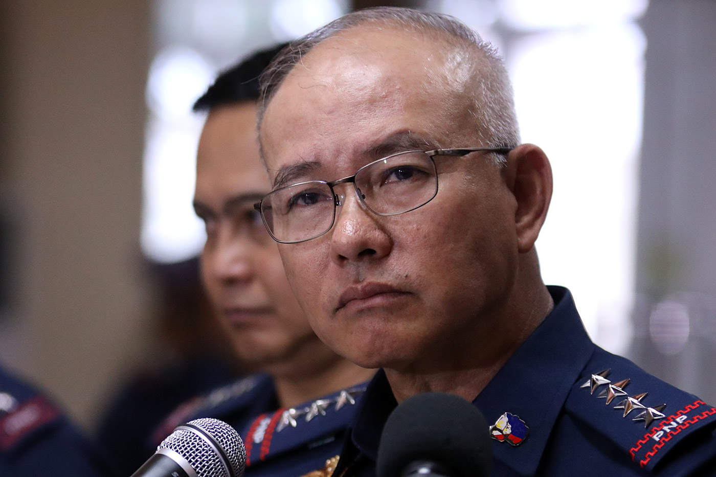 NO CONFIRMATION. PNP chief Oscar Albayalde could not immediately confirm the President's claim of an ouster plot against him. File photo by Darren Langit/Rappler