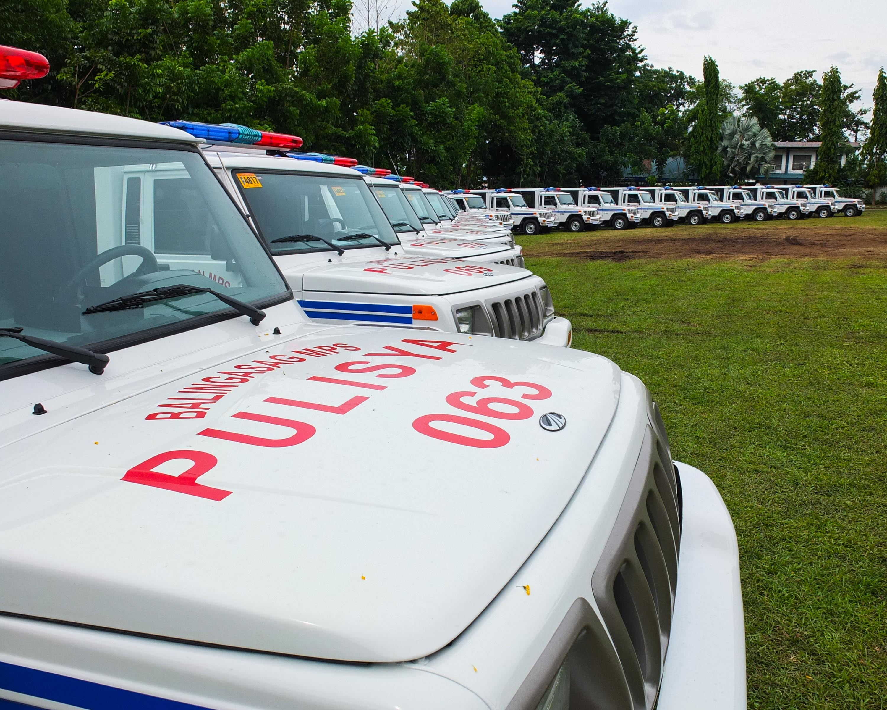 FOR PATROL. 23 units of this patrol jeep were distributed to the 23 towns of Misamis Oriental on Friday, July 3, 2015 at Camp Vicente Alagar, headquarters of the PNP in Northern Mindanao. Photo by Bobby Lagsa/Rappler