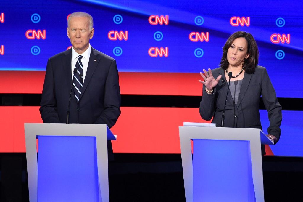 ENDORSE. Senator Kamala Harris endorses former vice president Joe Biden. File photo from Agence France-Presse