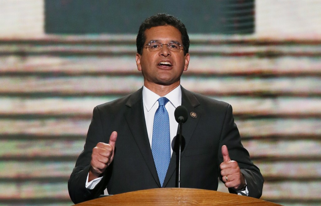 SUCCESSOR. Ricardo Rossello nominates Pedro Pierluisi, a member of his New Progressive Party, as secretary of state, lining him up to take his place until the next elections in November 2020. File photo by Alex Wong/Getty Images/AFP