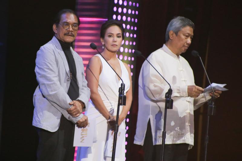 Lou Veloso, Ana Abad Santos, and Nicanor Tiongson (MPP). Photo by Paolo Abad/Rappler