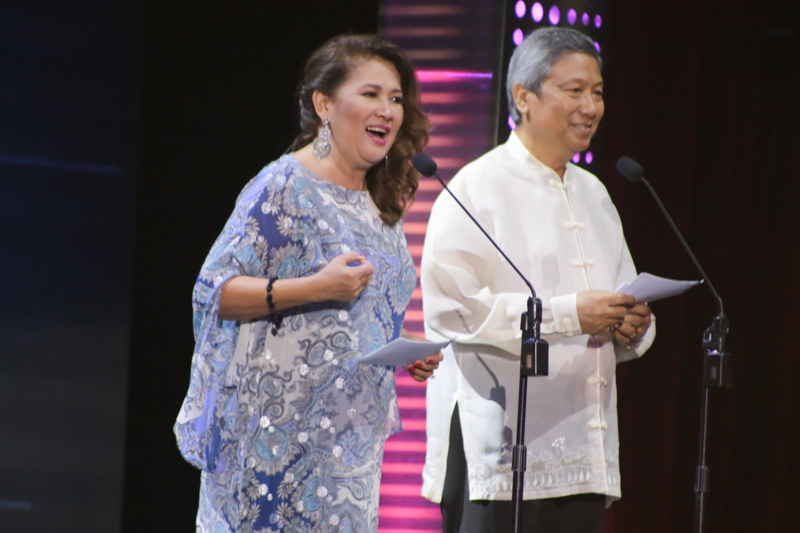 Tessie Tomas and Dr. Nicanor G. Tiongson. Photo by Paolo Abad/Rappler