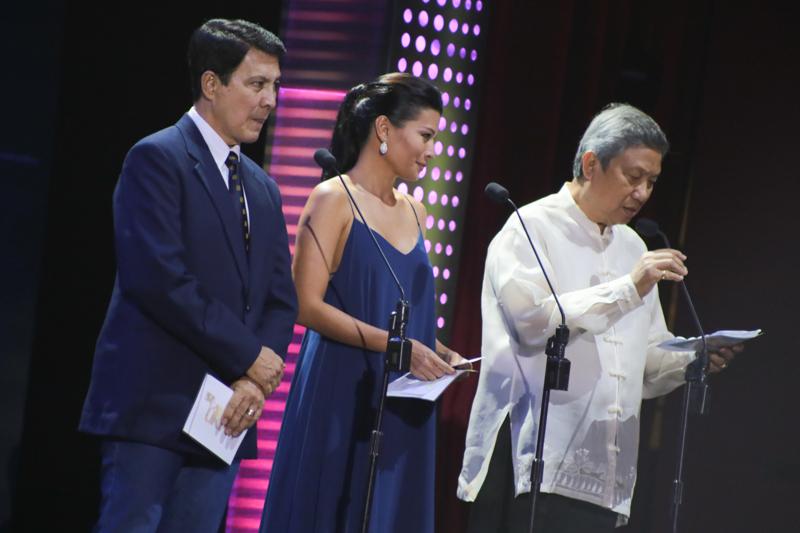 Tirso Cruz III, Mylene Dizon, and Dr. Nicanor G. Tiongson (MPP).
