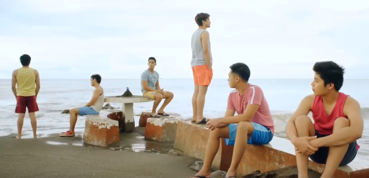 THE GANG. Diego Loyzaga, Marlo Mortel, and Jairus Aquino lead the cast.