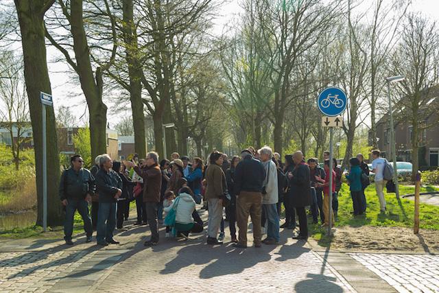 Suasana peresmian Munirpad di Den Haag, Belanda