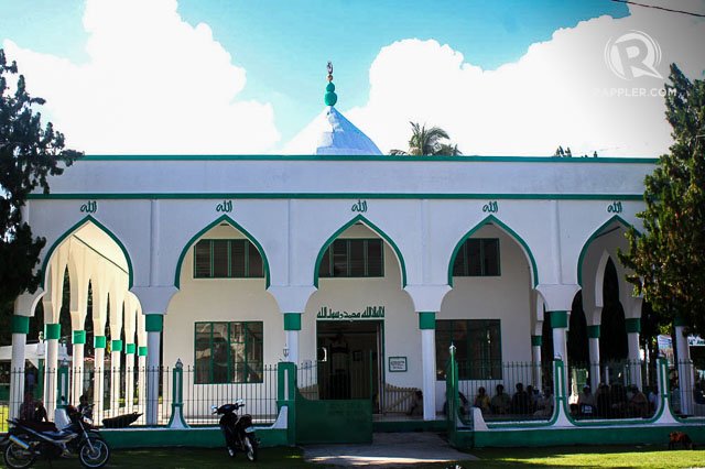 PART OF HISTORY. Front view of Sheik Makhdum Mosque, the oldest mosque in the Philippines