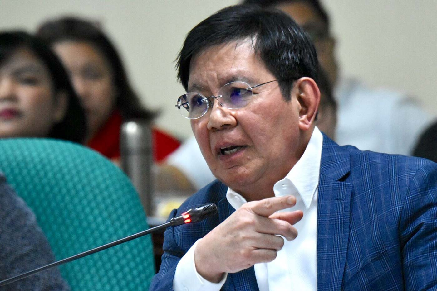 WRONG. Senator Panfilo Lacson says it's too early for House of Representatives to celebrate over the passage of the proposed P4.1-trillion budget for 2020. Photo by Angie de Silva/Rappler