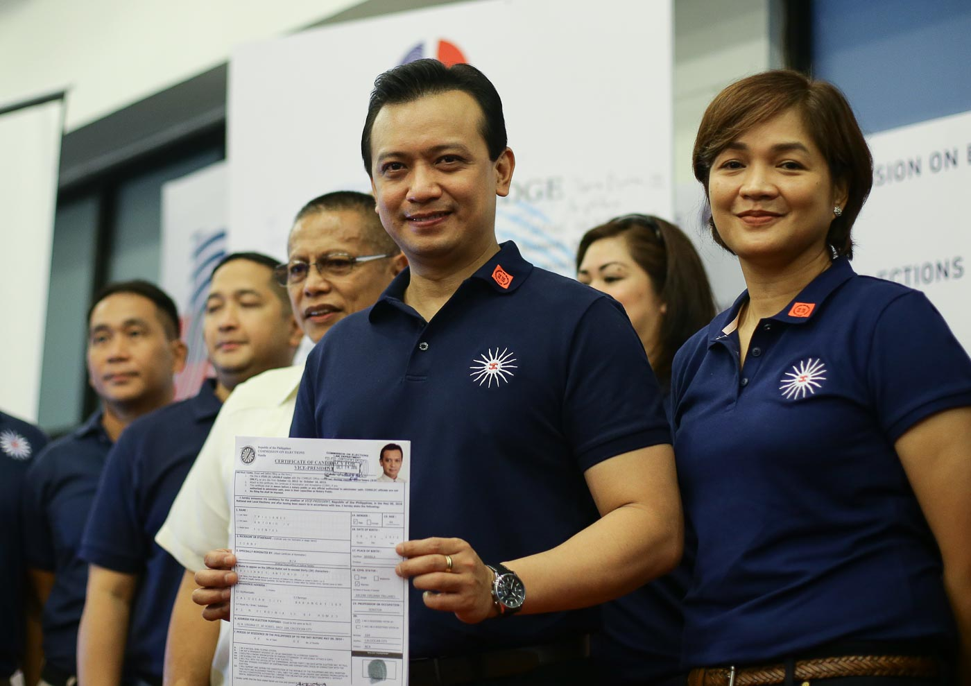 ANOTHER NP VP BET. Senator Antonio Trillanes IV is the second Nacionalista Party senator to file his certificate of candidacy for the position. File Photo by Mark Cristino/EPA