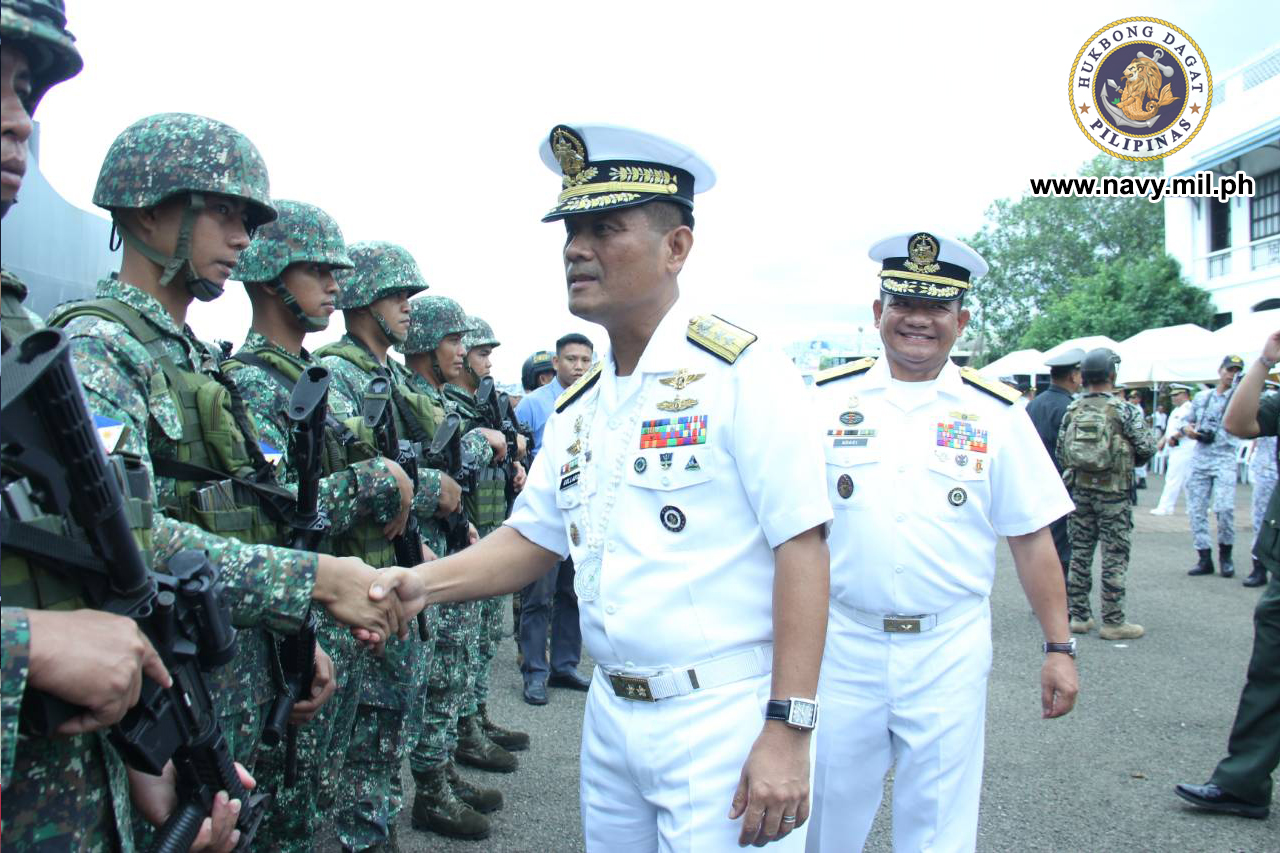 NAVSOG AND MARINES. The Philippine Navy contingent is composed of a naval special operations group and a Marines team. Photo courtesy of the Philippine Navy